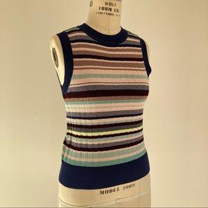 KATE SPADE Stripe Rib Tank Top Sweater Vest